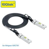 SFP+ Cable 1m Compatible Netgear AXC761, 10G SFP DAC Twinax Copper Passive Cable