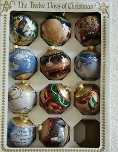 Vintage 12 Days of Christmas Ornaments. Missing 11th Day