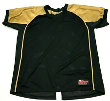 Battle Gear Jersey Size Large L Black Gold Shirt Short Sleeve Football Tee Adult