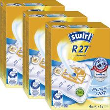 3 Original SWIRL R 27 MicroPor® PLUS / 12 Staubsaugerbeutel / für Rowenta, ...