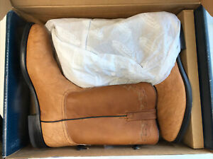 LUCCHESE 2000 Cowboy Boots T0092 Mens 11 EE Camel Oiled Shoulder NEW NIB