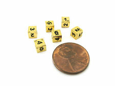 Micro Metal 5mm Gold Colored Chessex Dice, 6 Pieces - D6