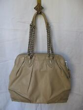 Marc Jacobs Soft Leather Sand Quilted Bottom Large Shoulder Bag Made in Italy