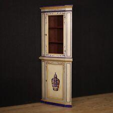 Angoliera in legno laccato mobile cantonale stile antico credenza vetrina 900