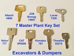 7 Key Master Plant Excavator Dumper Set - Superior Quality Made In The UK