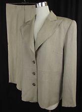 Einreihige unifarbene Damen-Anzüge & -Kombinationen aus Wolle mit Jacket/Blazer