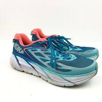 Hoka One One W Clifton 3 Women Size 8.5 Blue/Orange/Coral Running Shoes F27217C