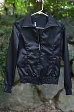 Charlotte Russe SZ SMALL / S Zip Up Jacket BLACK Coat Lightweight