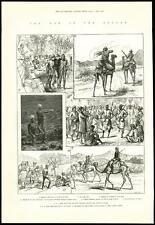 1885-Afrique Soudan Guerre Soldats blessés Camel corps armée camp (51)