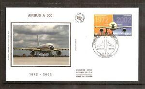 France 2002 SG3864 Yvert A65 FDC (Toulouse) 1st Airbus Flight (A300-B1) 30th Ann