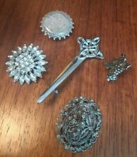 Vintage Costume Jewellery Brooches Job lot of 5