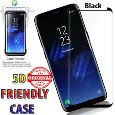 5D Case Friendly Full Cover Tempered-Glass Screen Protector Samsung Galaxy S8