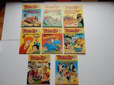 x8 VINTAGE DANDY Comic Library No 103-114 1987 British Comics Libraries Laugh