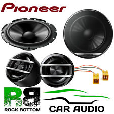 "Pioneer Fiat Punto MK2 6.5"" 600W Watts Front Door Car Speakers & Connectors Kit"