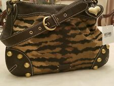 Moschino Cheap And Chic Leopard Satin Shoulder Bag Authentic