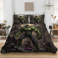 The Hulk Doona Quilt Duvet Cover Set Single/Double/Queen/King Size Bed Linen