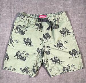 Rare Supreme Camel SS12 Belted Shorts Olive Green 2012 sz 32