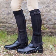 Just Chaps Kids All Purpose Neoprene Riding Half Chaps -  BLK/BRN - All Sizes