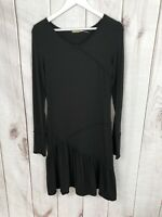 Max Studio Womens Long Sleeve Black Stretch Dress Size M