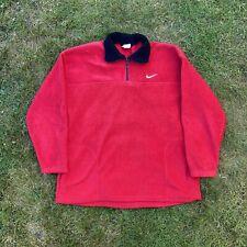 Vintage Retro 90s Nike Red Pocket Fleece Size Xl Vtg90 Rare