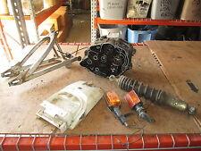 1983 Yamaha XT125 Engine Cases Mono Shock Swingarm Rear Fender Etc Parts Lot