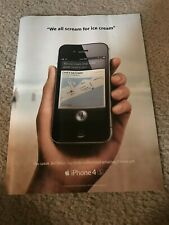 Vintage 2012 APPLE iPHONE 4S Poster Print Ad Art *1ST ONE w/ SIRI INTEGRATED*