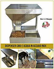 Dispenser cibo acqua in acciaio inox erogatore per cani gatti esterno interno