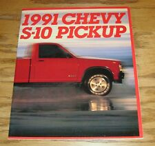 Original 1991 Chevrolet S-10 Pickup Sales Brochure 91 Chevy
