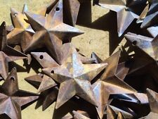 LOT OF 100 Rusty Stars 1.5 in 1 1/2 Primitive Country Crafts Rust Dimensional