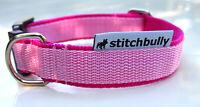 Hunde Halsband FRESH Pink und Rosa stufenlos verstellbar 37 - 57 cm M 0578