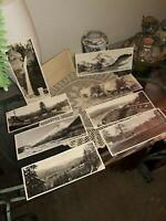 Rare LOT 8 R.I. Gifford Photographs Oregon,1929 STUDIO STAMPS: HORSES, MT. HOOD+