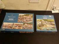 Gibsons 5 X 500 Piece Jigsaw Puzzle West Country Cornwall Beach Idyllic Gift