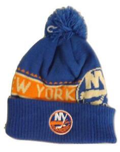 New York Islanders Mens Size OSFA Reebok Cuffed Thick Knit Blue Beanie Hat