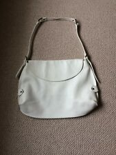 Genuine rare Mulberry large white leather shoulder bag