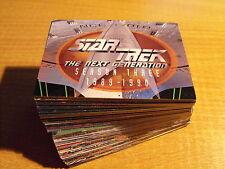 STAR TREK THE NEXT GENERATION SEASON THREE COMPLETE BASIC CARD SET