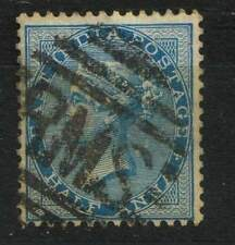 British East India Half Anna  Stamp Used RMS postmark