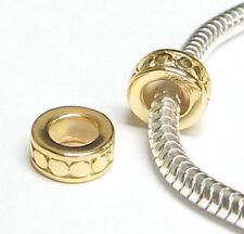 Sterling Silver Round Circle Dot Stopper Bead Rubber for European Charm Bracelet