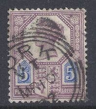GB SG207a QV 5d DULL PURPLE & BLUE USED our ref K266 JUBILEE ISSUE DIE II