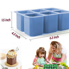 Cup Design Silicone Mould Glass Freeze Ice Cube Mold Maker Tray Party- 6 Shots