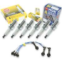6 pcs NGK G-Power Plug Spark Plugs & Wires for 01-05 Lexus IS300 3.0L L6 Kit io