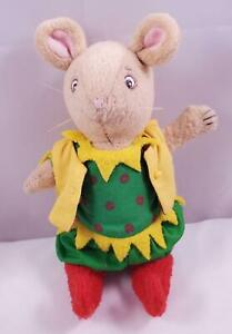 """American Girl Plush 8"""" Posable Angelina Ballerina Cousin Henry Mouse Elf Outfit"""