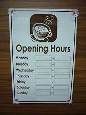 Café/Café des heures d'ouverture 300 mm x 200 mm