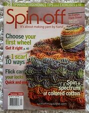 Spin-Off Magazine Summer 2008 Scarf Shawl Mittens Socks Flick Carding & More!