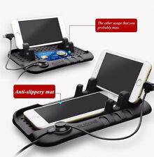 1X Silicone Magnetic Car Phone Holder Cradle USB Docking Stand Non Slip Dash Mat