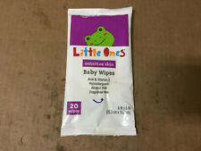 Little Ones Unscented Baby Wipes for Sensitive Skin, 20ct