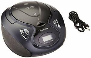Memorex AM/FM Bluetooth CD Boombox, Black/Silver  MP3451