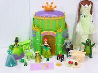 Disney Tiana Magiclip Doll Royal Palace Princess and The Frog Playset Lot