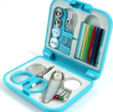 14pc Mini Sewing Kit Case Needle Thread Tape Scissor Size Handcraft Travel Home