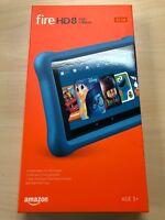 "NEW Amazon Fire HD 8 Kids Edition Tablet 8"" Display 32GB (7th Gen) - MARINE BLUE"