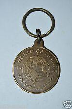 WOW Vintage World of Thanks Globe Eastland Vocational Schools Brass Key Chain